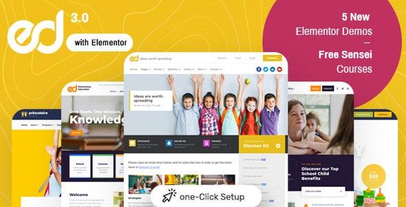 [Nulled] Ed School v3.5.0 - Education WordPress Theme