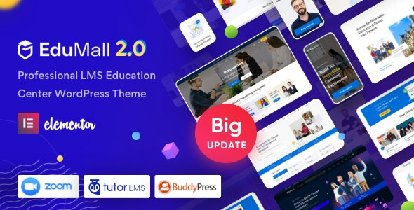 [Nulled] EduMall v2.6.0 - Professional LMS Education Center WordPress Theme