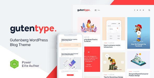 [Nulled] Gutentype v2.0 - 100% Gutenberg WordPress Theme