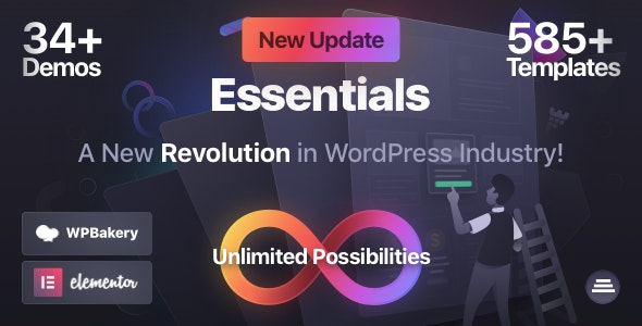 [Nulled] Essentials v1.2.9 - Multipurpose WordPress Theme
