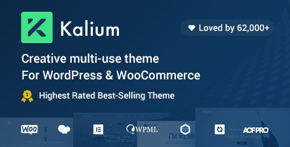 [Nulled] Kalium v3.2.1 - Creative Theme for Professionals