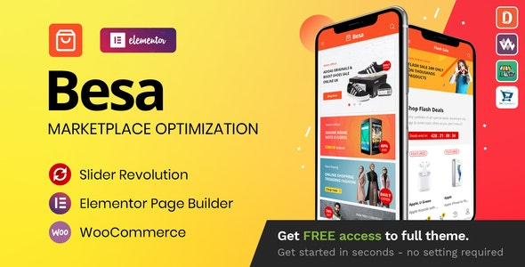 [Nulled] Besa v1.3.0 - Elementor Marketplace WooCommerce Theme