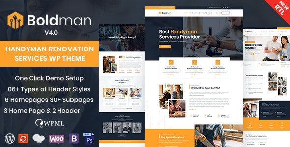 [Nulled] Boldman v4.1 - Handyman Renovation Services WordPress Theme