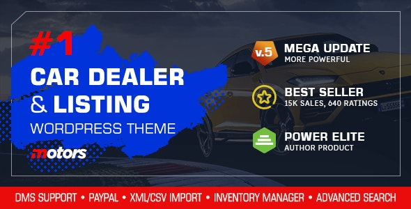 [Nulled] Motors v5.0 - Automotive, Cars, Vehicle, Boat Dealership WordPress Theme