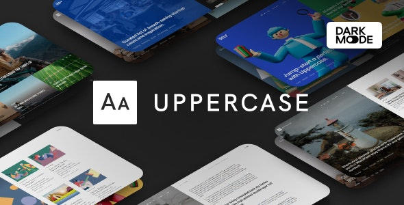 [Nulled] Uppercase v1.0.8 - WordPress Blog Theme with Dark Mode